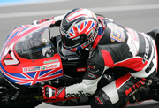 Image of Chaz Davies on his 250 Aprilia